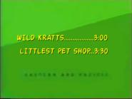 UTN - Coming up next Wild Kratts followed by Littlest Pet Shop (January 4 2013)