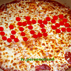 Pizza ident. Designed when a customer saw an unusual pattern on his pizza.