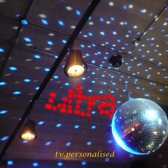 Disco ball ident, 2004. Filmed in a disco!