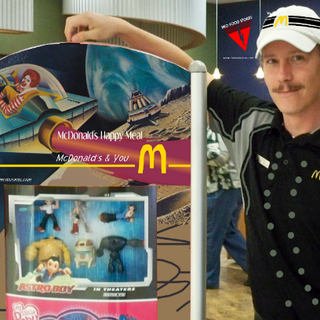 McDonald's Happy Meal poster at an RKO Food Store in Panama City in 2009.