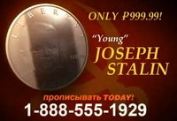 The Young Joseph Stalin Commemorative Silver Dollar 2007