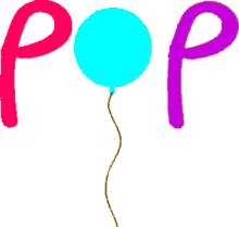 Pop (Hungary)'s first logo.