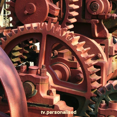 Gears ident, 2004. Same as above, but not in factory. Seen outdoors.