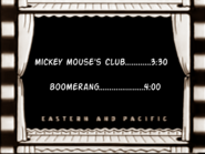 Utn coming up next mickey mouse club followed by boomerang (night time) (1 november 2012)