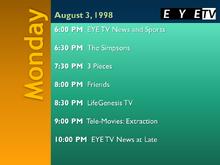 EYETV1 schedule 1998-08-03