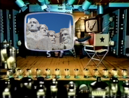 Nick at nite sign on bumper spoof from thha22m - mount rushmore