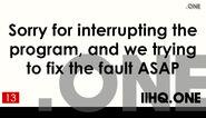 IIHQ.one Technical Fault 2012