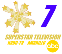 KVDU 1970s logo (The 3D stars design was created for KVDU in 1958 and was retired for good in 2004)