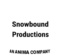 Snowbound Productions 1999 Print Logo White