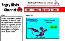 Angry Birds Channel Website Design 2013-2014