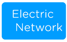 Electric Network Logo Blue