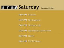 EYETV1 schedule 2001-12-29