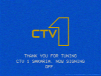 CTV1 sign-off 1986