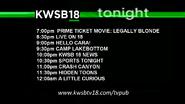KWSB 18 lineup (September 6, 2014)