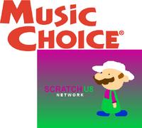 Music Choice on Scratch U8 Network logo