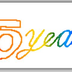 5 Years logo (2002).