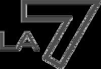 LA7 old logo grey
