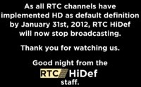RTC HiDef sign off