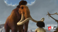 UTN screenbug - Merry christmas during Cartoon Theatre Ice Age (December 25 2014)