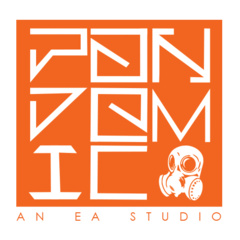 If <b>EA</b> revived <i><b>Pandemic Studios</b></i>, this logo or similiar could be used...