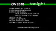 KWSB 18 tonight lineup 2015