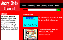 Angry Birds Channel Website Design 2014-2015