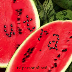 Watermelon ident, 2004. A hot, sunny day didn't stop them from eating dessert.