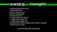KWSB 18 tonight lineup 24 july 2015