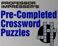 Professor Impresser's Pre-Completed Crosswords 2008