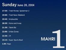 Mahri TV1 sked 2004-06-20
