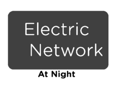 Electric Network at Night Logo