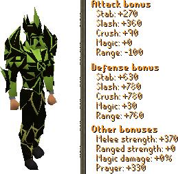Predator Torva Set Stats