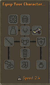 Scroll of luck equiped