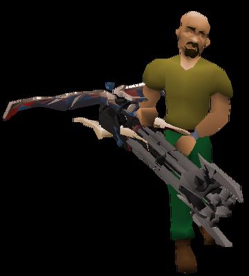 Demon Minigun Equipped