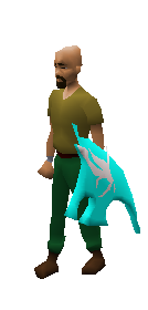Aqua Spirit Shield Equiped