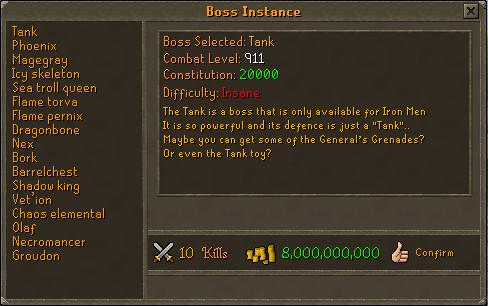 Boss instance