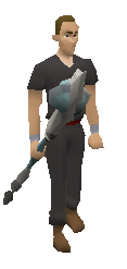 Chaotic Staff Equipped