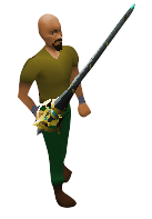 Graceful Rapier Equipped