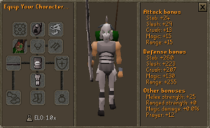 Ironman gear stats