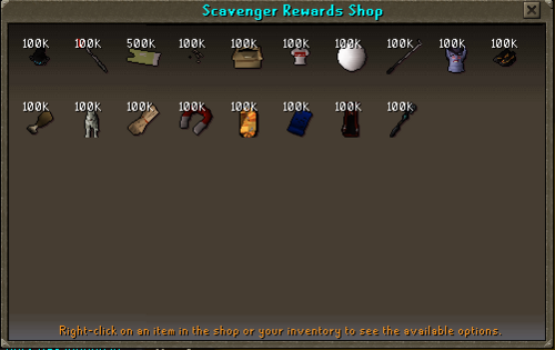 Scavenger Rewards Shop