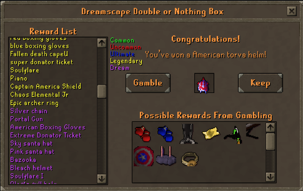Double or Nothing Box Interface
