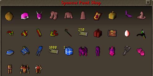 Sponsor point shop