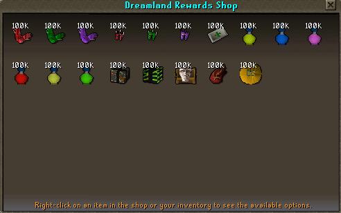Dreamland Rewards Shop