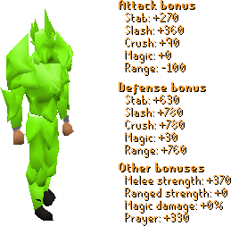 Lime Torva Set Stats
