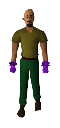 Ultimate Mage Gloves Equipped
