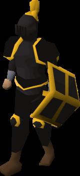 Black Gold Trimmed Set (lg) equipped