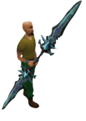 Eternal Khione`s Staff Equipped