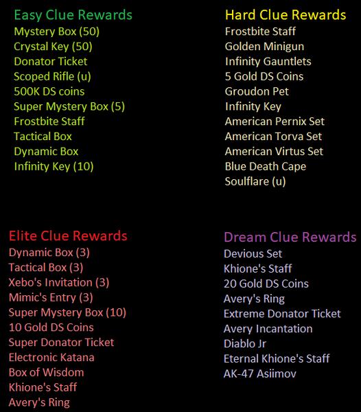 Clue Scroll Rewards