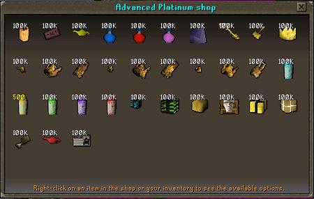 Platinum Shop Upgrade