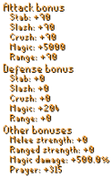 Infinity Gauntlet (Charged) Stats
